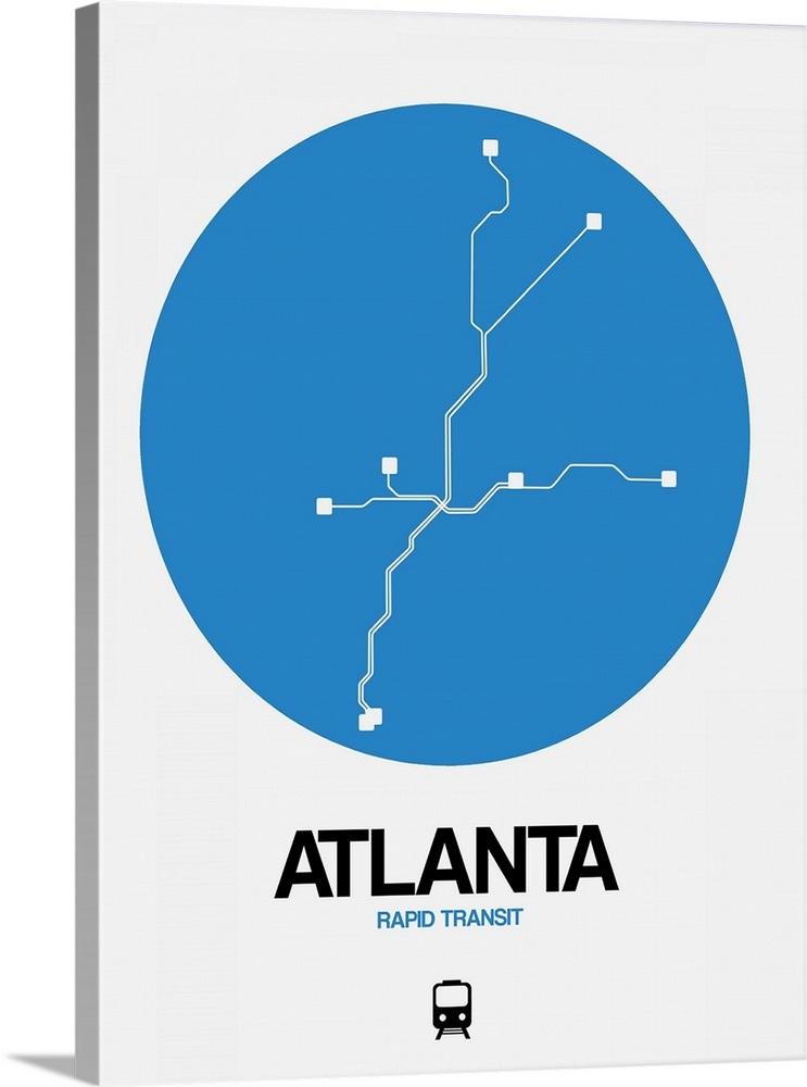 Atlanta Blue Subway Map Wall Art Canvas Prints Framed Prints Wall