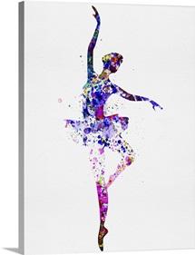 Ballerina Dancing Watercolor II