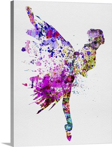 Ballerina On Stage Watercolor III Wall Art, Canvas Prints, Framed ...