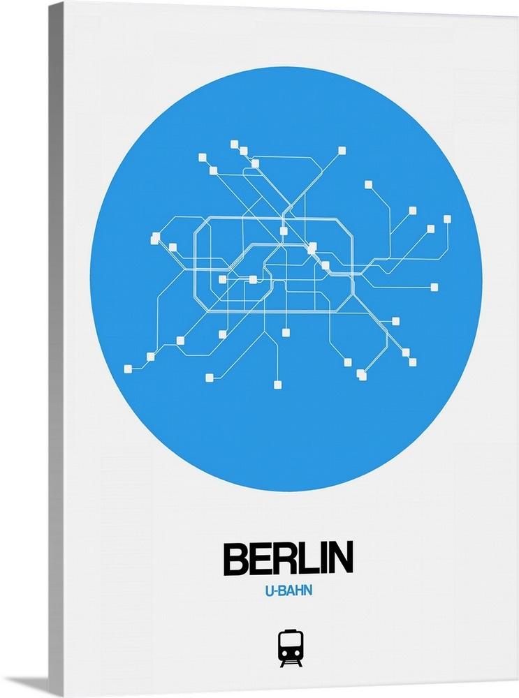 Berlin Wall Subway Map.Berlin Blue Subway Map