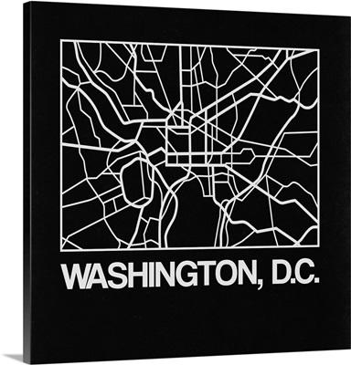 Black Map of Washington, D.C