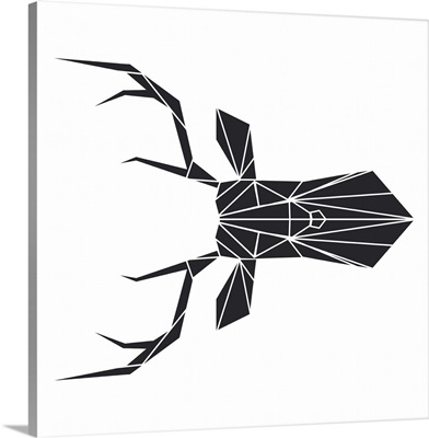 Black Polygon Deer
