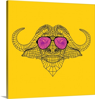 Buffalo in Pink Glasses