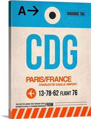 CDG Paris Luggage Tag II