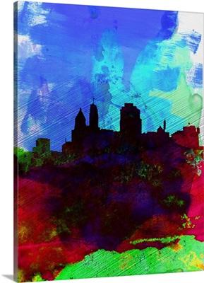 Cincinnati Watercolor Skyline