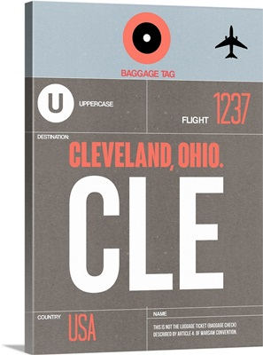 CLE Cleveland Luggage Tag II