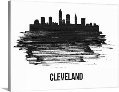 Cleveland Skyline Brush Stroke Black II