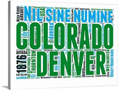 Colorado Word Cloud Map