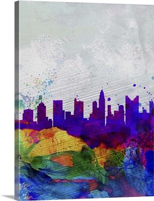 Columbus Watercolor Skyline