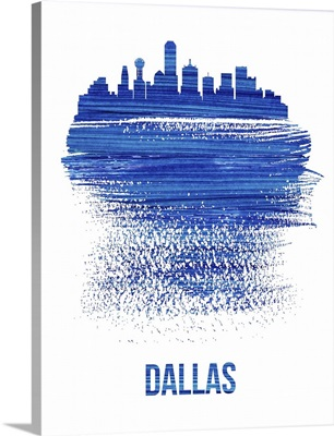 Dallas Brush Stroke Skyline Blue