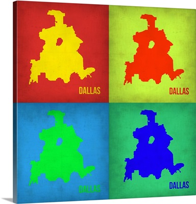 Dallas Pop Art Map I