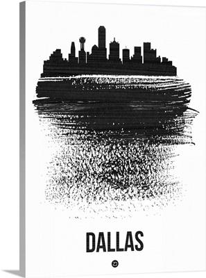 Dallas Skyline Brush Stroke Black