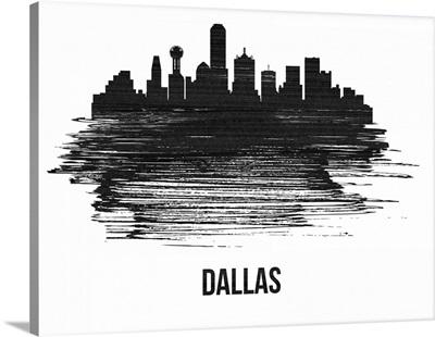Dallas Skyline Brush Stroke Black II