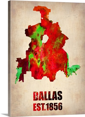 Dallas Watercolor Map