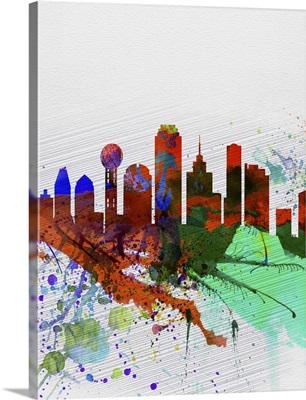 Dallas Watercolor Skyline