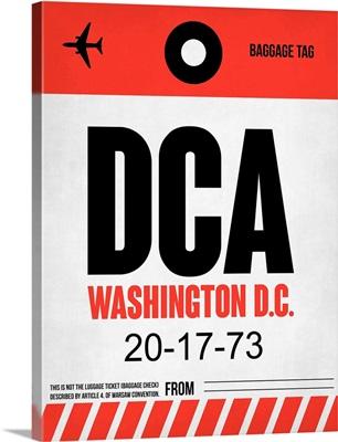 DCA Washington Luggage Tag I