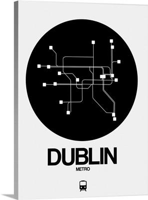 Dublin Black Subway Map