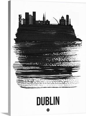Dublin Skyline Brush Stroke Black