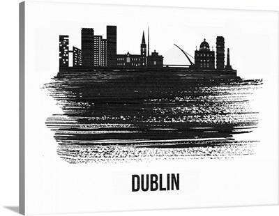 Dublin Skyline Brush Stroke Black II