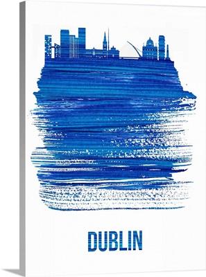 Dublin Skyline Brush Stroke Blue