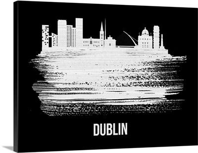 Dublin Skyline Brush Stroke White