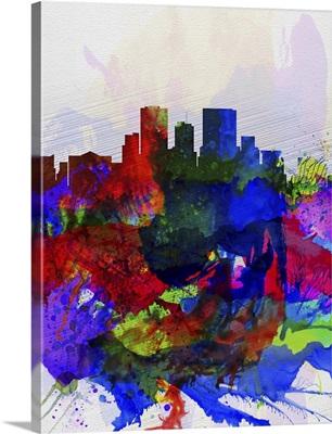 El Paseo Watercolor Skyline