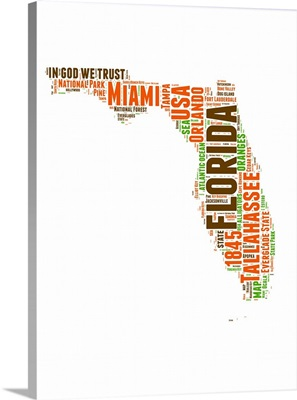 Florida Word Cloud Map
