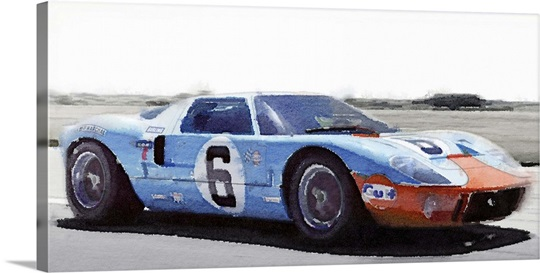 Ford Gt  Gulf Watercolor
