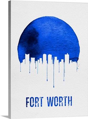 Fort Worth Skyline Blue