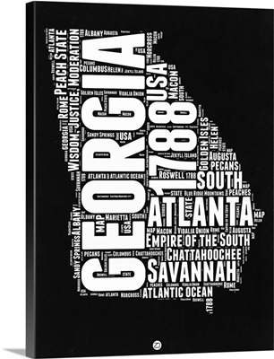Georgia Black and White Map