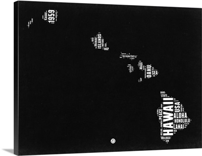 Hawaii Black and White Map
