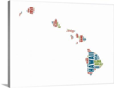 Hawaii Word Cloud Map