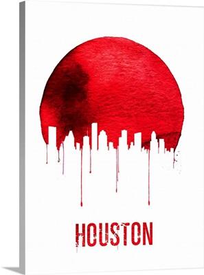 Houston Skyline Red