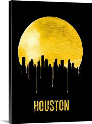 Houston Skyline Yellow