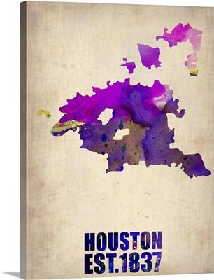 Houston Watercolor Map