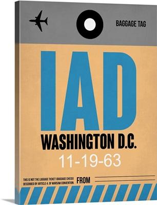 IAD Washington Luggage Tag I