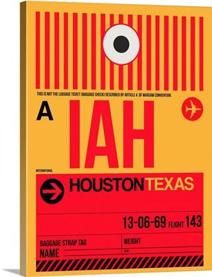 IAH Houston Luggage Tag I