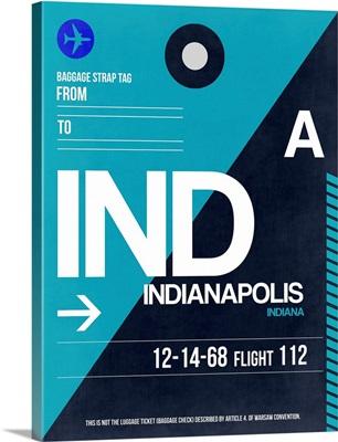 IND Indianapolis Luggage Tag II