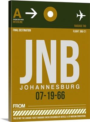 JNB Johannesburg Luggage Tag I