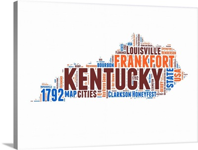 Kentucky Word Cloud Map