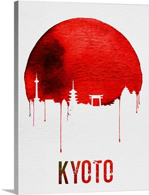 Kyoto Skyline Red