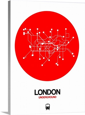 London Red Subway Map
