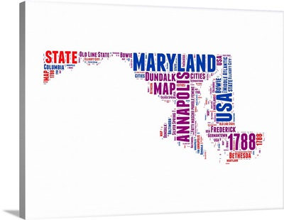 Maryland Word Cloud Map