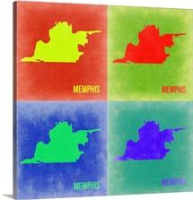 Memphis Pop Art Map II