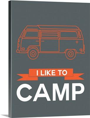 Minimalist Camper Poster I