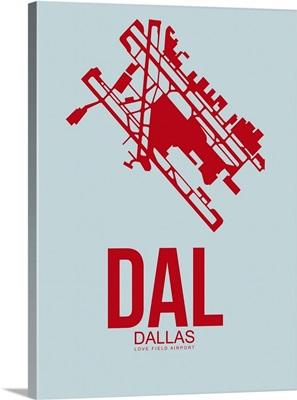 Minimalist DAL Dallas Poster III
