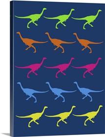Minimalist Dinosaur Family Poster III