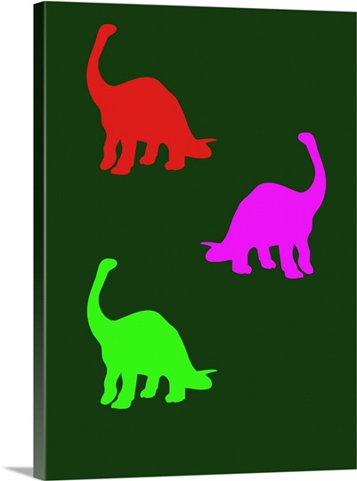 Minimalist dinosaur family poster xix wall art canvas for Minimal art family