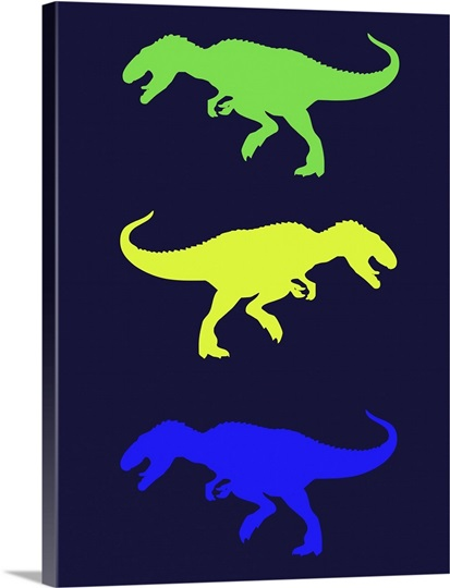 Minimalist dinosaur family poster xxiii wall art canvas for Minimal art family