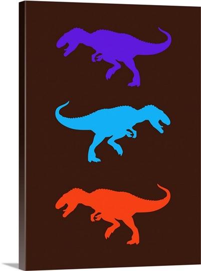 Minimalist dinosaur family poster xxiv wall art canvas for Minimalist family